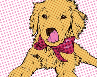 Comic Book Pop Art From Your Photo, Customer Portrait, Comic Photo Art, Unique Gift, Pet Artwork, Wedding Artwork, Custom Portrait