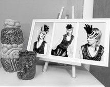 Glitz & Glam - Vintage Photography, 1920s, Black and White Photography, Fashion, Art Print, The Artist, Framed Art