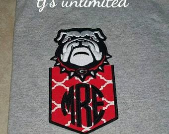 Georgia. Bulldogs. Pocket tee