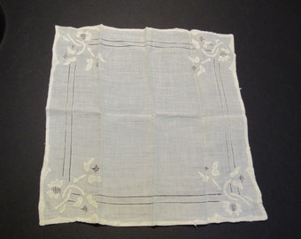 vintage fine linen handerchief