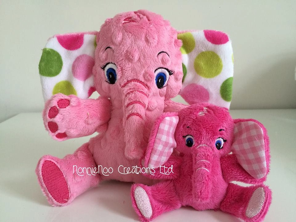 The Small Elephant Family Machine Embroidery Ith 4x4 And
