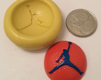 Baketball Jump Man Silicone Mold