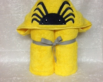 Hooded Bath Towel, Spider
