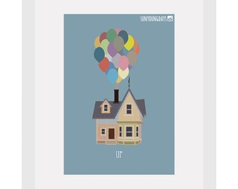 up movie poster postcard 4'X6'