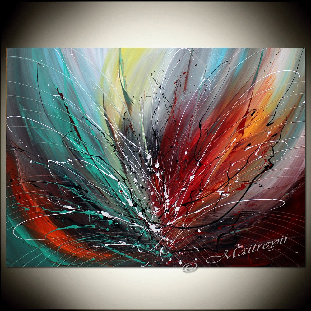 Abstract art large abstract painting on canvas by largeartwork for Abstract art mural