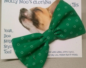Green Collar Bow Tie