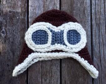 Crochet Aviator Earflap Hat