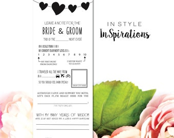 INSTANT DOWNLOAD PDF: Leave a Note for the Bride and Groom- Mad Lib (Draw City here)