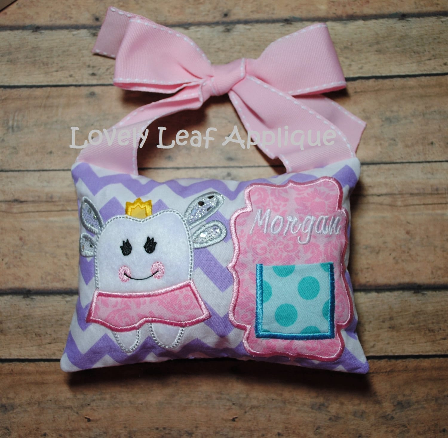 Digital item hoop tooth fairy pillow ith design