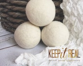 Wool Dryer Balls! Triple Hand Felted Un-Bleached Wool down to the core!