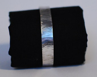 Hammered sterling silver cuff bracelet