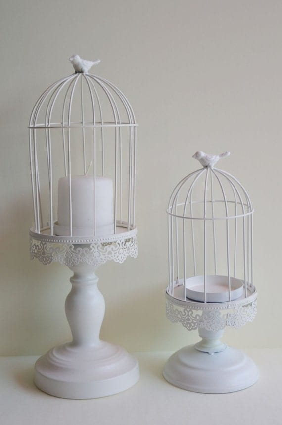 Wedding birdcage centerpiece set candle holder