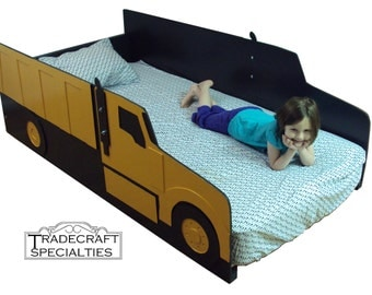 truck twin kids bed frame handcrafted truck themed childrens bedroom furniture cement - Childrens Bed Frames