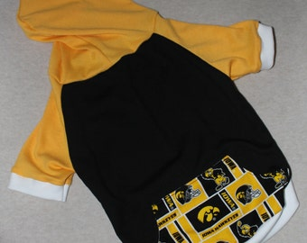 Iowa Hawkeyes Dog Hoodie / Personalization Available!
