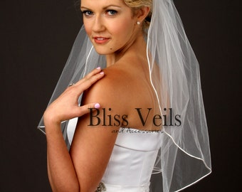 Simple Veil, Wedding Veil, Elbow Veil, 1 Layer Veil, White Veil, Ivory Veil, Off White Veil, Champagne Veil, Fast Shipping