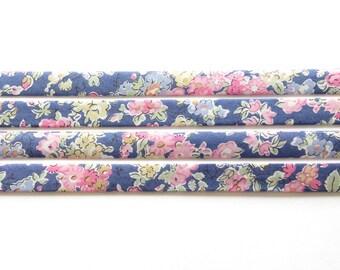 Liberty fabric bias binding 1x Yard of Tatum - K - 10mm, Liberty fabric UK, crafting and sewing supplies for jewellery makers UK