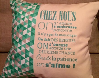 "cross stitch pattern ""chez nous"""