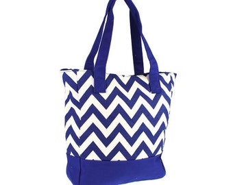 Bridesmaid Personalized Chevron totes set of 6 bags