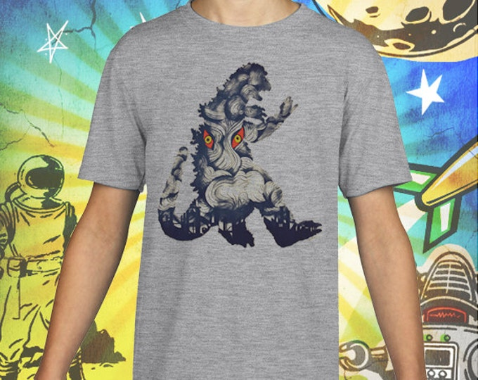 Godzilla Hedora Poster on Gray Kids T-Shirt