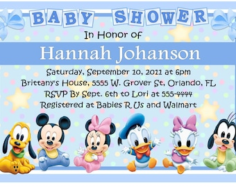 Superior Disney Baby Shower Invitations   DIY   INSTANT DOWNLOAD ~ Printable Digital  File