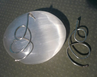 Sterling Silver Swirling Post Earrings
