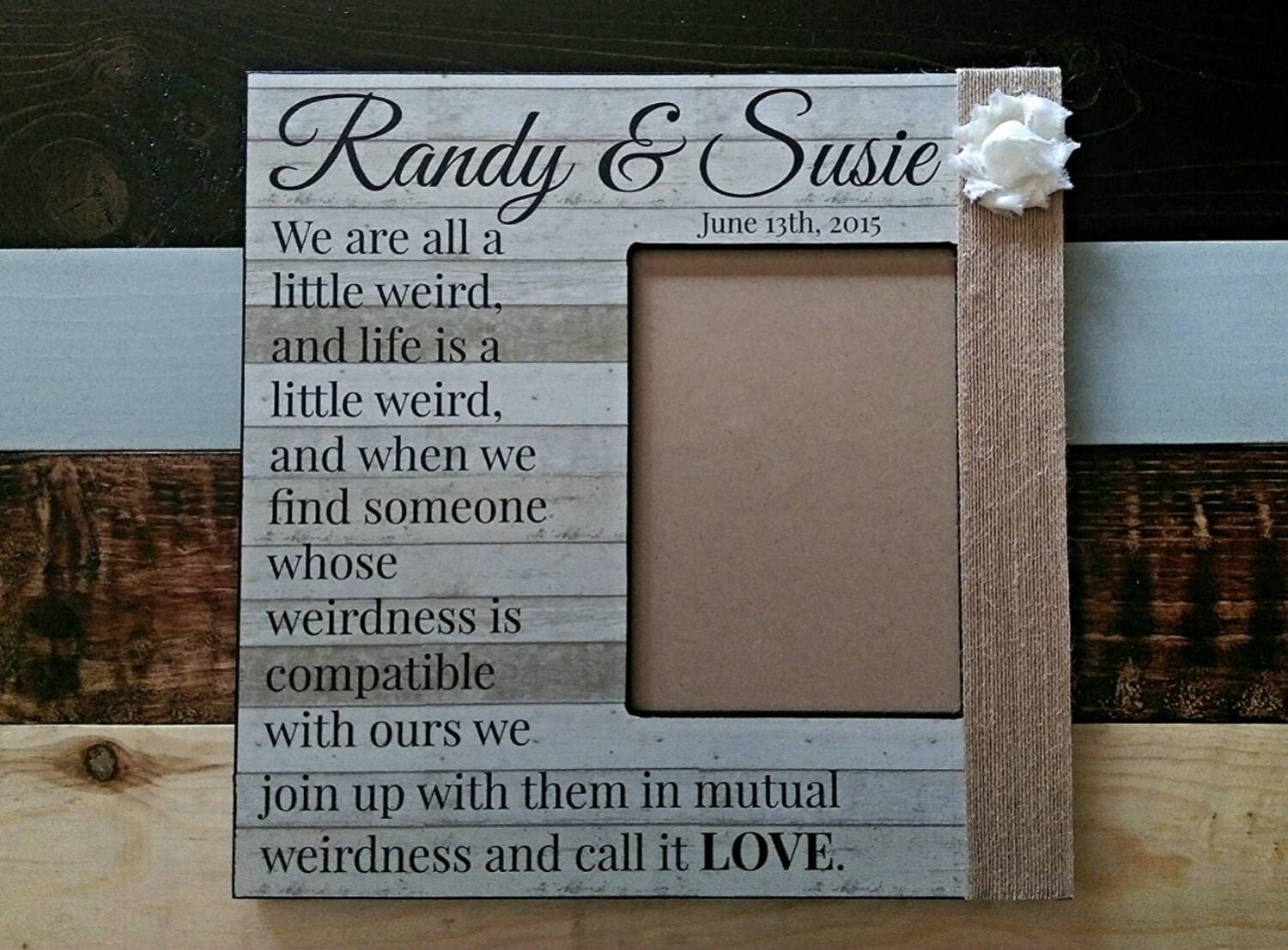 Frames With Quotes On Them: Custom Quote Picture Frame We're All A Little