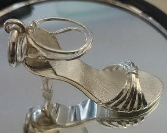 Dancing shoe pendant Sterling silver
