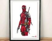 Deadpool - Illustrated Giclee Print