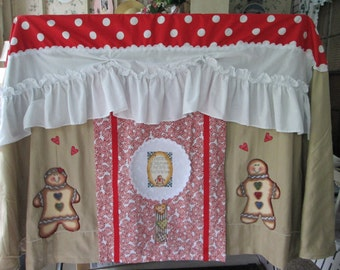 Gingerbread Card table playhouse