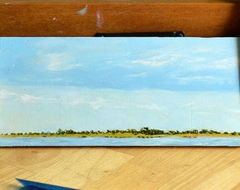 Blue Long Island Sky Oil Painting