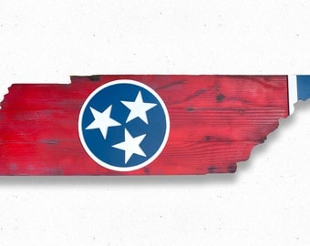 Tennessee State Wood Flag, Tennessee Wooden Flag, Tennessee State Flag, wall art, wood flag, Memphis, Volunteers, Nashville, home decor