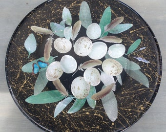 Nesting Decoupage Glass Plate