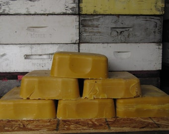 unfiltered beeswax 11 pound block