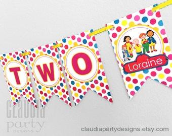 Caillou Birthday Banner, Caillou Birthday Party, Personalized Caillou Banner, Caillou Party, Girl or boy Banner
