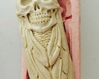 Skull Totem - Feather - Skull - Mould Mold
