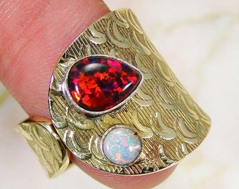 Ring sterling silver. 925 Opal
