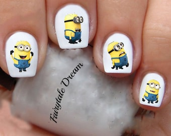 1214 Minions 20 Water Slide Nail Art Transfer Decals stickers