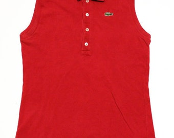 60's vintage Lacoste sleeveless shirts made in France