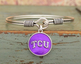 TCU Horned Frogs Iridescent Round Bracelet