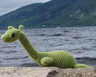 Nessie the Loch Ness Monster amigurumi figure