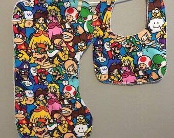 Nintendo Baby Gift Set Bib, Burp Cloth