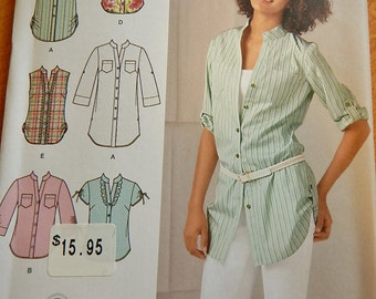 Simplicity 2255 Easy to Sew Misses Tunics Shirts Tops Sewing Pattern Brand New Uncut Sizes 14 -22
