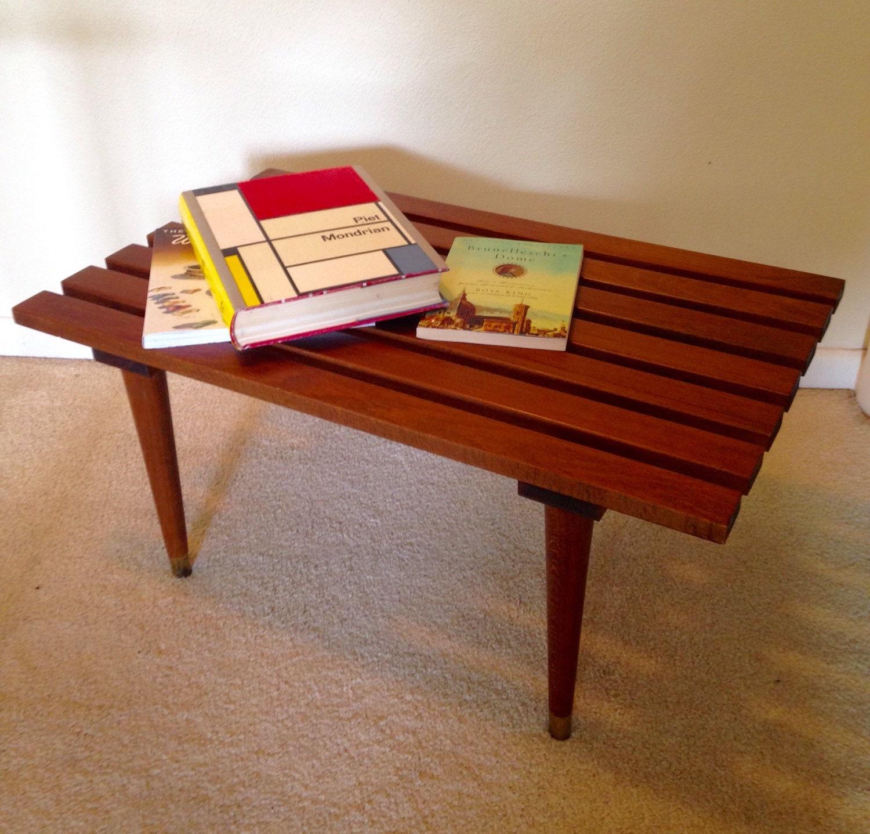 Mid Century Modern Coffee Table / Slat Bench George Nelson