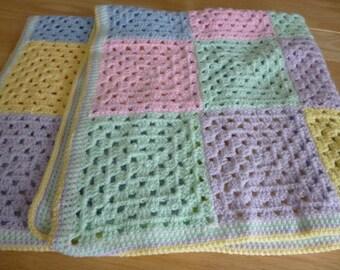 """Hand Crochet Baby Blanket 32"""" x 37"""""""