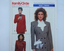 Formal suit Professional office wear attire jacket 1988 vintage sewing pattern Size 18 20 22 Bust 40 42 44, Butterick 6664, CarolJoyFashions