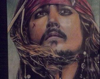 Hand drawn Captain Jack Sparrow