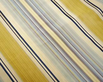 "Nautical Blues & Gold: Silk Fabric Square, 22"" x 53-7/8"""