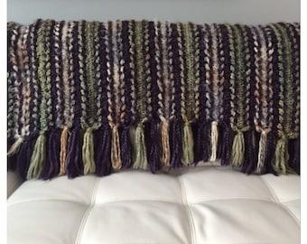 Green, Beige, and Dark Purple