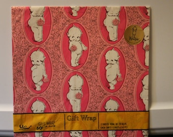 Darling Vintage Kewpie Gift Wrap by Laurel - American Greetings 1973