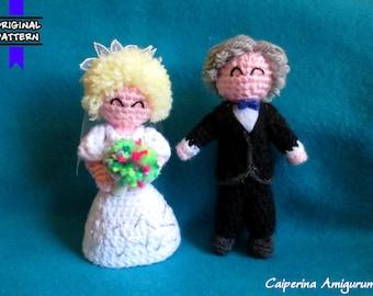 Cake Topper amigurumi - Wedding - Married Couple - Newlyweds